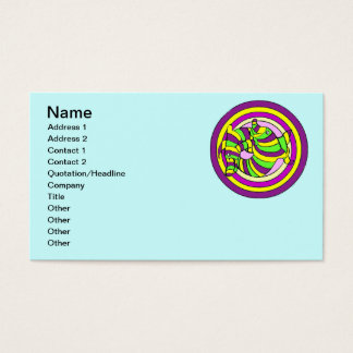 Lifesaver Dolphins into the swirl. Business Card