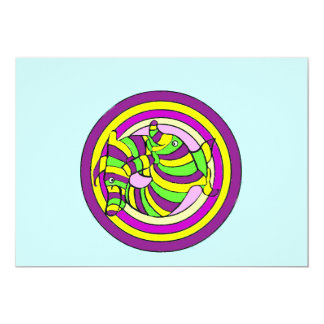 Lifesaver Dolphins into the swirl. Card