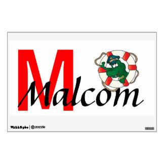 Lifesaver Gator Name Wall Art | Personalize Wall Sticker