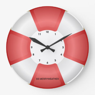 lifesaver lifebuoy nautical clock with own text