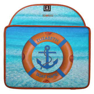 Lifesaver With Anchor And Sea Boat Or Yacht Owner MacBook Pro Sleeve