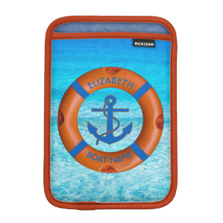 Lifesaver With Anchor And Sea Boat Or Yacht Owner Sleeve For iPad Mini