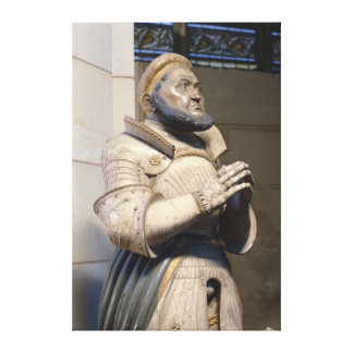 Lifesize Alabaster Statue of the Elector Canvas Print