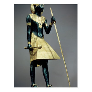 Lifesize statuette of the king postcard