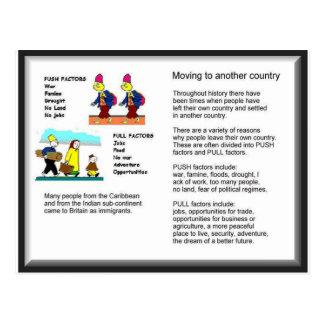 Lifeskills, Citizenship, Geography, Moving on Postcard
