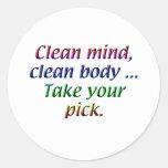 Lifestyle - Clean mind Round Sticker