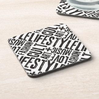 LIFESTYLE FASHION CULT - black Coaster