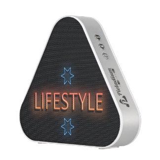 Lifestyle neon sign. speaker