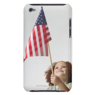 lifestyle portrait of a female child as she Case-Mate iPod touch case