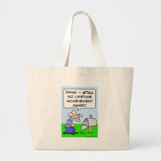 lifetime achievement award large tote bag