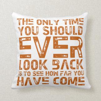 Lifetime Achievements Orange Text Design Pillow