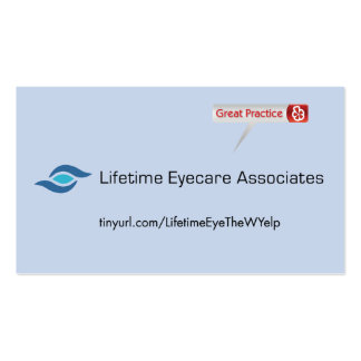 Lifetime Eycare Associates Business Card