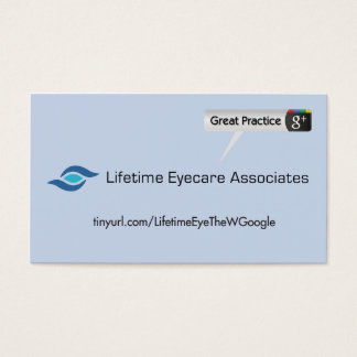 Lifetime Eyecare Associates Business Card