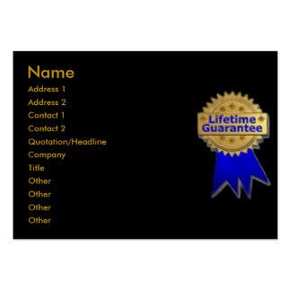 Lifetime Guarantee Profile Card Large Business Card