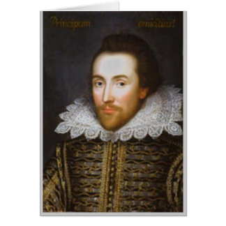 Lifetime Portrait of Shakespeare Card