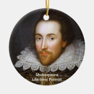 Lifetime Portrait of Shakespeare Ceramic Ornament