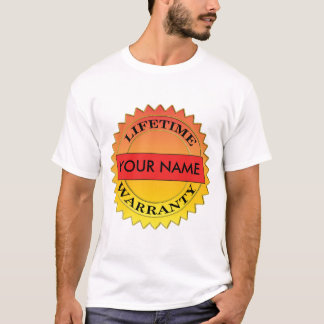 Lifetime Warranty Symbol Your Name Mens T-shirt