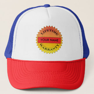 Lifetime Warranty Symbol Your Name Trucker Hat