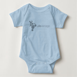 LifeVantage Corporate Logo-gray Baby Bodysuit