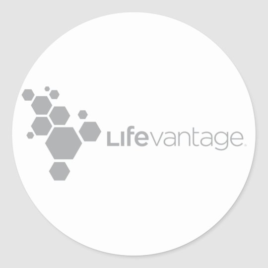 LifeVantage Corporate Logo-gray Classic Round Sticker
