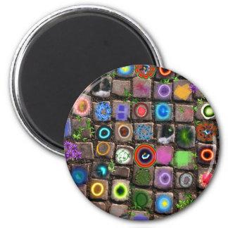 """""""Lifewalk""""  original art creation 2 Inch Round Magnet"""