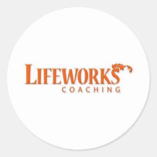 Lifeworks Coaching Shameless Self-Promotion Classic Round Sticker