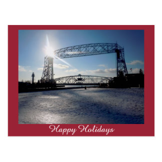 Lift Bridge Holiday Greeting Postcard