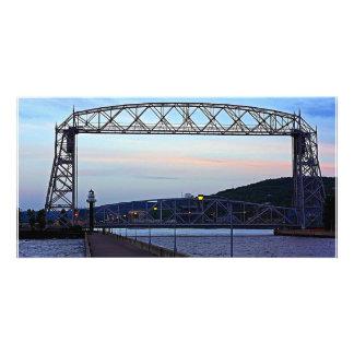 Lift bridge in the Morning Custom Photo Card
