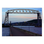 Lift bridge in the Morning Stationery Note Card