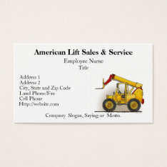 Lift Construction Business Cards at Zazzle