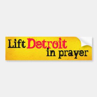Lift Detroit in Prayer Bumper Stickers