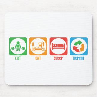 Lift, Eat Sleep, Repeat - Mouse Pad