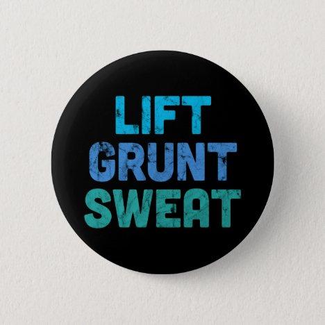 Lift Grunt Sweat Bodybuilder Gym Exercise Button