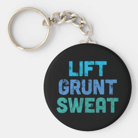 Lift Grunt Sweat Bodybuilder Gym Exercise Keychain