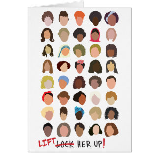 Lift Her Up Note Card (blank inside)