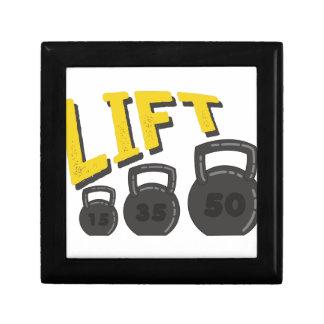 Lift Kettle Bells Keepsake Box