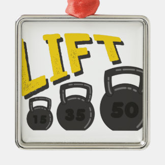 Lift Kettle Bells Metal Ornament