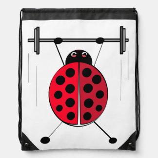 Lift Ladybug Lift! Drawstring Backpack
