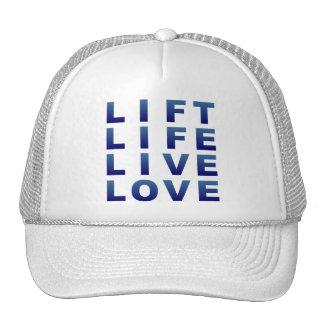 Lift Life Live Love Trucker Hats