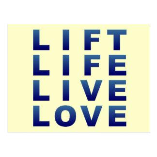 Lift Life Live Love Postcard