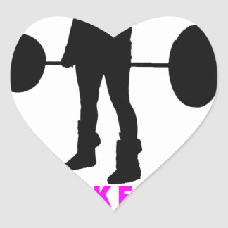 lift like a lady shirts KJ.png Heart Sticker