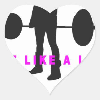 lift like a lady shirts.png heart sticker