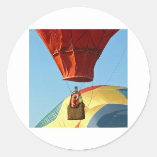 Lift off! classic round sticker