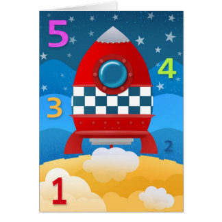 Lift Off - greeting card