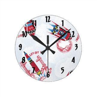 Lift Off Round Clock