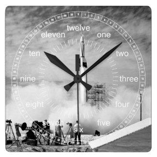 Lift Off Square Wall Clock