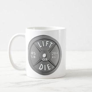 Lift Or Die 45 lb Plate Coffee Mug
