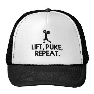 Lift, Puke, Repeat Funny Design Mesh Hat