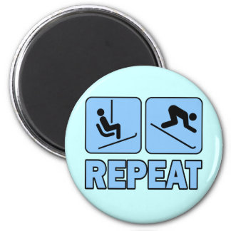 LIFT - SKI - REPEAT 2 INCH ROUND MAGNET