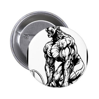 LIFT TIL' YOU PUKE BODYBUILDING LOGO 2 INCH ROUND BUTTON